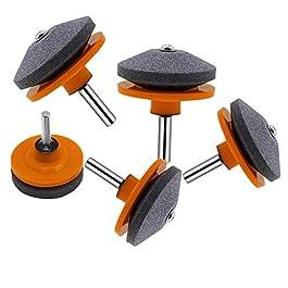 Bluesees – Aiguiseur de lame de tondeuse à gazon – 5 pièces – Outil d'équilibrage de lame de tondeuse à gazon – Outil d…