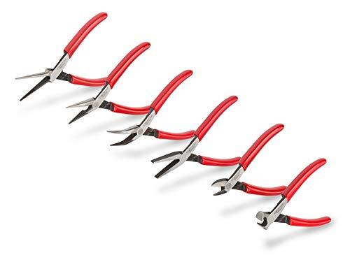 TEKTON Mini Pliers Set, 6-Piece (Needle Nose, Long Nose, Flat Nose,...