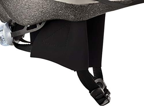 CHECKZEB Winddichte Ohrenschützer aus Softshell für den Fahrradhelm (Übergangsmodell) (Schwarz, S)