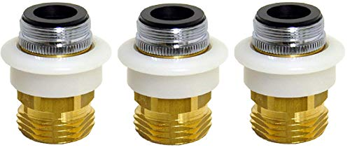 Danco 10521, GHTM Dishwasher Snap Coupling Adapter, 15/16 in.-27M or 55/64 in.-27F x 3/4 in. Chrome-plated brass, Pack of 3
