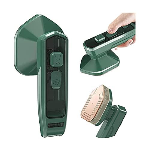 lancha de vapor portátil para el hogar, portátil, plegable, mini plancha, micro plancha de vapor profesional portátil, adecuada para el hogar o viajes (Dark green)