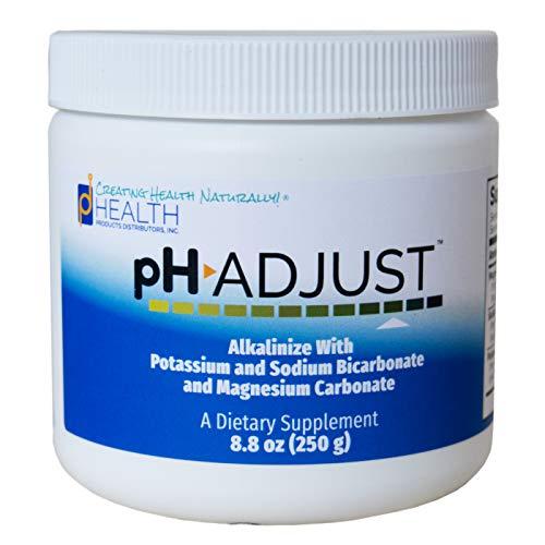 pH Adjust Alkalinizing Formula   Alkalinize with Potassium and Sodium Bicarbonate and Magnesium Carbonate   Rapidly Balances pH Levels   Tastes Good   Easy-to-Use Fine Powder   250 GM