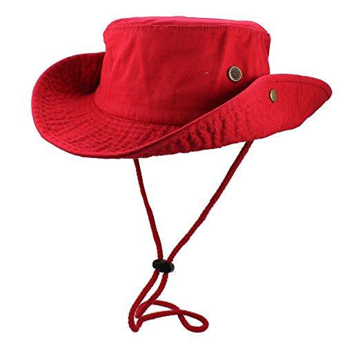 Product Image 5: Gelante 100% Cotton Stone-Washed Safari Booney Sun Hats 1910-Red-S/M