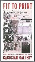 ポスター アーティスト不明 ハーレー Fit to Print2007 collage 額装品 アルミ製ベーシックフレーム(ブラック)