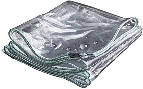 DJPB Tarpaulin waterproof tarps camping groundsheet 0.3MM Transparent Curtain/Durable Vinyl Tarpaulin/Anti-uv Windproof Waterproof for Public Facilities (Color, Clear, Size, 2x4m),Clear,1.6x4m 4PB08