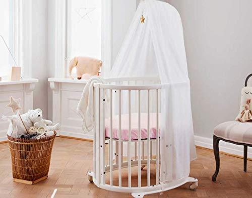 Giovanni Dolcinotti Baby Collection | Set de 1 Drap-housse pour Berceau Compatibles Stokke Sleepi Mini 73x58 cm - 100% Coton, Fabriqué en Italie, Crème