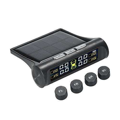 Rvciken Solar TPMS Wireless Autoreifendrucküberwachungssystem mit 4 externen Sensoren