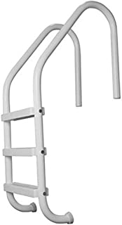 SAFTRON P-324-L3-W White 3-Step In Ground Swimming Pool Ladder