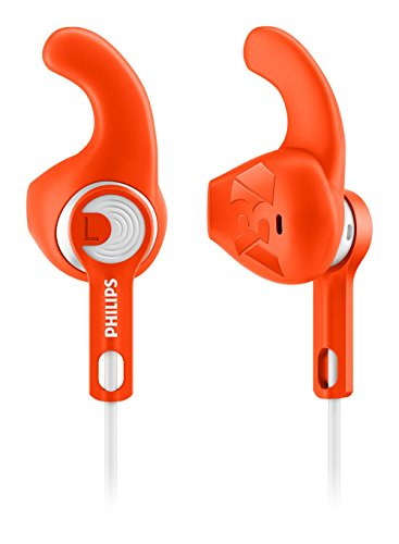 Philips ActionFit Sports shq1300or/00–In-Ear Headphones, EAR-CLIP Headphones, Wired, 15–22000Hz, 1.2m, Orange