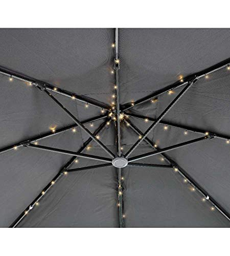 Kaemingk 72 LED Solar Sonnenschirm Lichterkette 8X 1,2m Sonnenschirmbeleuchtung