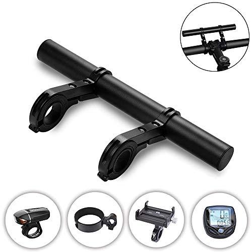 ASTARC Fahrrad LenkerverläNgerung, Aluminium Fahrradlenker Extender für Klemme Tachometer Scheinwerfer Lampe GPS Telefonhalterung mit Inbusschlüssel und Doppelklemmen (schwarz)