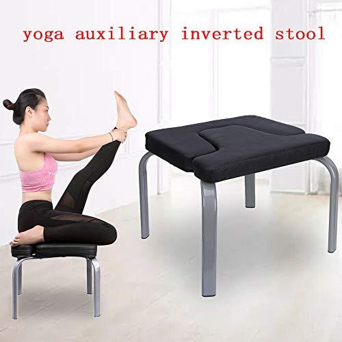sujrtuj Yoga Inverted Chair Inverted Stool, Multifunktionshocker Yoga Assisted Exercise Chair Sport Fitness Hocker Fitnessgeräte Schwarz