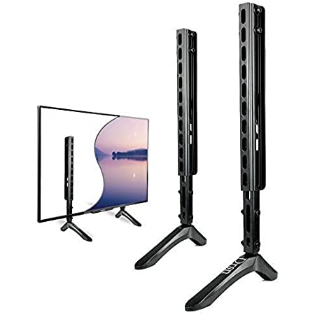 Amazon Com Universal Tv Stand Tv Wall Mounting Table Top Tv Stand For 26 65 Inch Including Lg Tcl Samsung Sony More Height Adjustable Leg Stand Holds Up To 99lbs Suited For Vesa Up