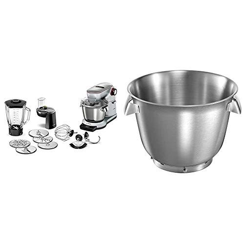 Bosch MUM9DT5S41 Optimum Küchenmaschine, Edelstahl, 5.5 liters, silber & MUZ9ER1 Zubehör für Küchenmaschinen