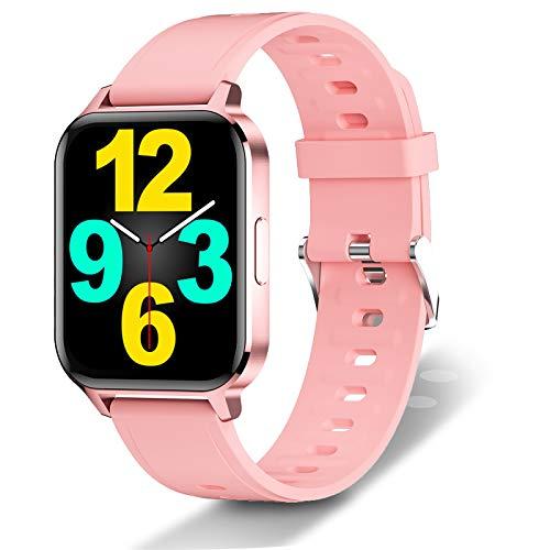 Fitness Tracker Impermeable IP68 SmartWatch 1.7 'Reloj de Pantalla Completa Hombres Mujeres Rastreador de Actividad física, Podómetro con Monitor de frecuencia cardíaca en la muñeca