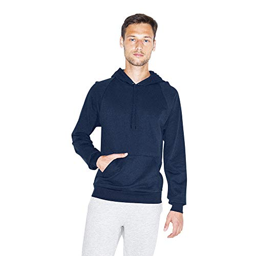 American Apparel Herren California Fleece Long Sleeve Pullover Hoodie Kapuzenpulli, Navy, Large