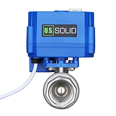 """Motorized Ball Valve- 3/4"""" Stainless Steel Ball Valve with Manual Function, Full Port, 9-24V AC/DC and 2 Wire Auto Return Setup by U.S. Solid from U.S. Solid"""