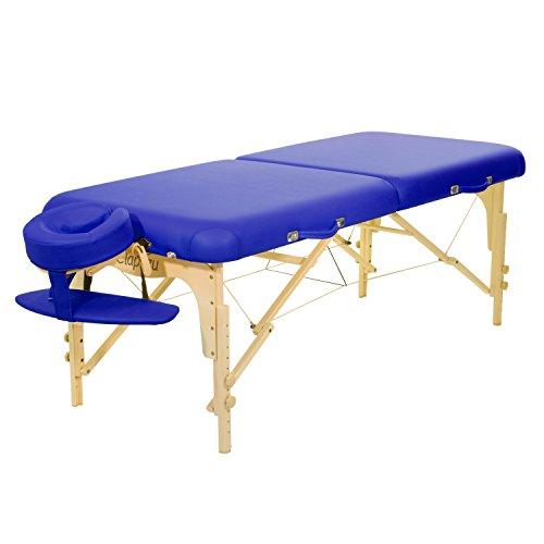 Mobile Massageliege Clap Tzu CLASSIC PRO SET, 184x75 cm, marina