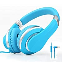 子供のヘッドフォンサブウーファー携帯電話ヘッドセット音楽ヘッドフォンデスクトップユニバーサルコンピュータヘッドセットサポート,Blue