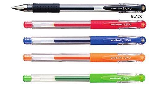 Uni-ball Signo Um-151 - Penna a inchiostro gel, 0,38 mm, confezione da 5 pezzi