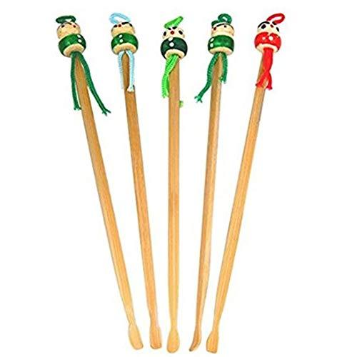 Ndier 5pcs remplacement cérumen Remover en bois mignon oreille Choisissez chinois traditionnel Style Oriental Bamboo Curette Outils Produits Soins et Santé