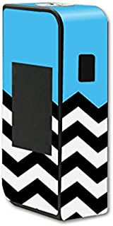 MightySkins Skin Compatible with Sigelei T150 Touchscreen – Baby Blue Chevron | Protective, Durable, and Unique Vinyl Decal wrap Cover | Easy to Apply, Remove, and Change Styles | Made in The USA