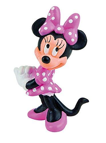 Bullyland 15349 Speelfiguur, Walt Disney Minnie Classic, ca. 7 cm groot, liefdevol met de hand geschilderd figuur, PVC-vrij, leuk cadeau voor jongens en meisjes om fantasierijk te spelen.