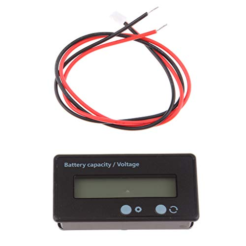 Best Bargain Baosity Battery Capacity Indicator Voltmeter Tester Meter with LED Backlight GY-6S - Bl...
