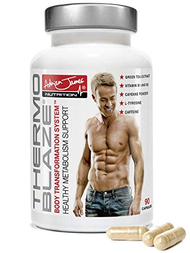 Adrian James Nutrition - Thermoblaze Thermogenic Fat Burner for Men & Women, Weight Loss Diet Pills, Premium Grade UK Made, Quality Assured, Natural Ingredients, 90 Capsules