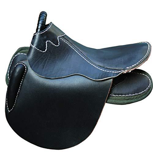 XMXM Turista Sillín grande Boutique Saddle Endurance Saddle Tips Sillín Equestre Suministros Fijos Sillín Adulto Cuero Puro Fuerte Entrenamiento a Prueba de Golpes Carreras de Caballos