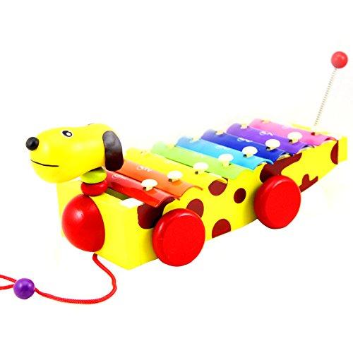 Xilófono Juguetes de Madera , Netspower Musica Sabiduría Desarrollo de instrumentos Juguete de Madera para Niños - Cachorro Pequeño de Juguete Coches