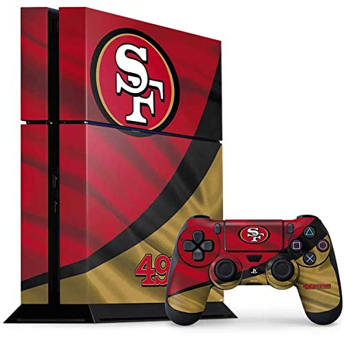 Skinit Decal Gaming Skin for PS4 Console and Controller Bundle - Officially Licensed NFL San Francisco 49ers Design