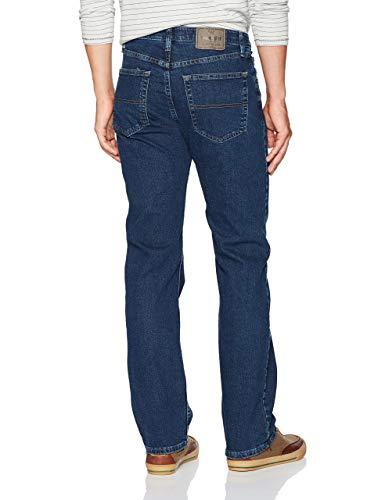 Wrangler Authentics Men's Big & Tall Regular Fit Comfort Flex Waist Jean, Dark Stonewash, 44W x 30L