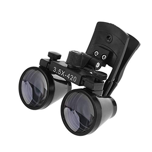 NSKI 3.5X420mm Surgical Medical Binocular Clip Loupes DY-110 Lab Head Magnifier w/Clip-on