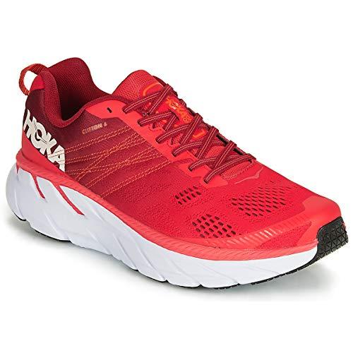 Hoka Clifton 6, Zapatillas de Running por Hombre, Rojo (PoppyRed/RioRed PRRR), 41 1/3 EU