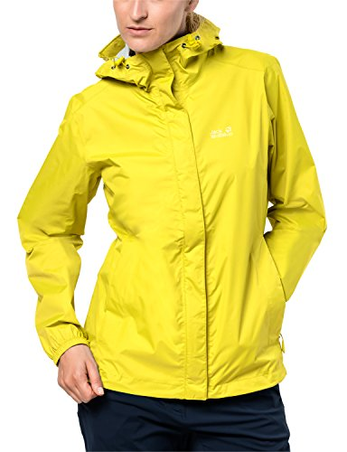 Jack Wolfskin Cloudburst Dames dames, ademend, waterdicht, winddicht, outdoorjas, wandeljas, regenjas, weerbestendige jas