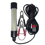 Milageto Luz de Pesca LED subacuática ultrabrillante de 12v Potente atracción para atrapar Peces Lámpara Agua Dulce Sumergible Luces sumergibles para Agua - luz Blanca