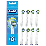 Oral-B Braun Precision Clean - Cabezales Para Cepillo De Dientes Eléctrico Con Cerdas Cleanmaximiser (8 Unidades)