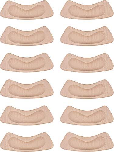 Fersenpolster Schwamm,6 Paar Fersenhalter Pads Rmeet Selbstklebende Fußpflege Fersenkissen Fersenpolsterung für Frauen Dame High Heels Schuhe 10.5 * 3.5CM Khaki