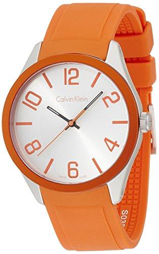 Calvin Klein Reloj Analógico para Unisex de Cuarzo con Correa en Silicona K5E51YY6
