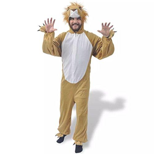 vidaXL Disfraz Tipo de Carnaval Modelo León de Color Amarillo de ...