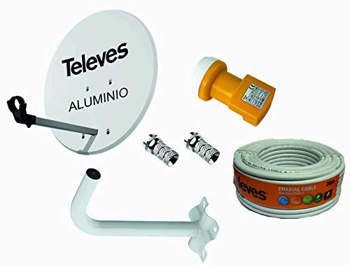 Kit Antena PARABOLICA para Astra TELEVES 63cm Aluminio + Rollo DE Cable...