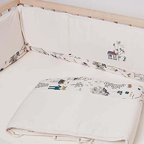 Coussinets confortables et respirants pour berceaux standard lavables en machine 100% microfibre polyester doux