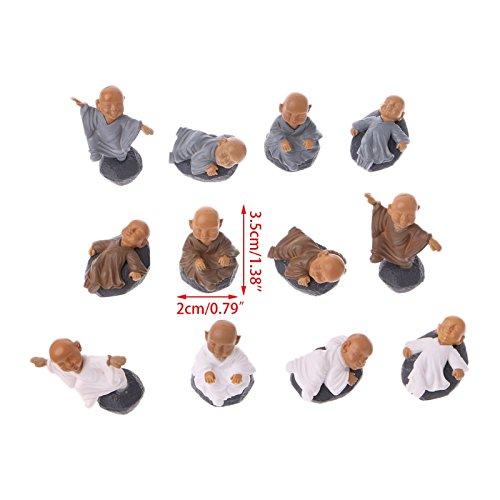 KOFUN Figura de monje adornos Kung fu, juguete de muñeca en miniatura, bonsái, decoración de jardín, 1 unidad, color al azar