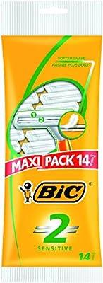 BIC 2 Sensitive Men's Razors - Pack of 14 from BIC