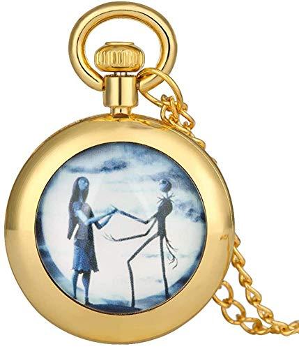 Reloj bolsillo creativo y moda la víspera Navidad con tema miedo hombres,...