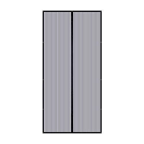 TOPELEK Magnet Fliegengitter Tür Insektenschutz 110x220cm, Magnet Fliegenvorhang, einfach mit Schwerkraft Sticks zu verschließen, Klebmontage ohne Bohren