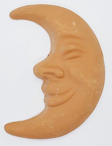 Luna da muro in terracotta Ceramica Handmade Le Ceramiche del Castello Made in Italy Dimensioni: 18 x 13,5 centimetri