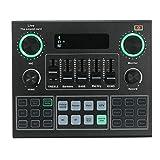 ZHSHML YXHYQ V9 Tarjeta de Sonido en Vivo BT Acompañamiento Mezclador DE Audio...