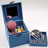 ZAIZAI Conjunto de hogar Caja de Costura Caja de Boda Juego de Lanzador de Mano Herramienta de Costura Almacenamiento Caja de Tesoros Costura (Color : A)